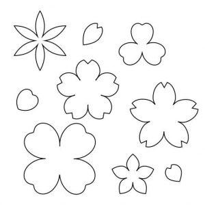 お花の型紙集(5パターン)