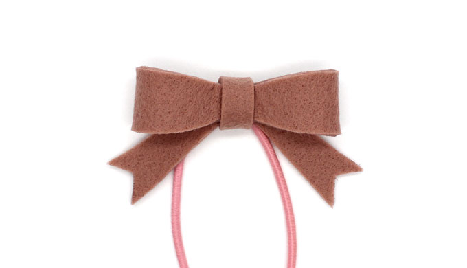 簡単・型紙で作る立体リボンのヘアゴム