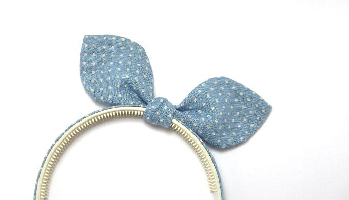 うさ耳シュシュ用リボン(ふっくらタイプ)の型紙